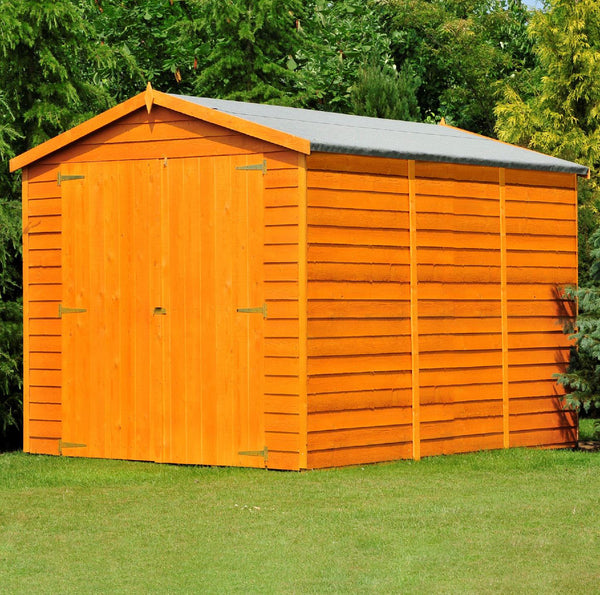 12'x6' Double Door Overlap Shed - Windowless