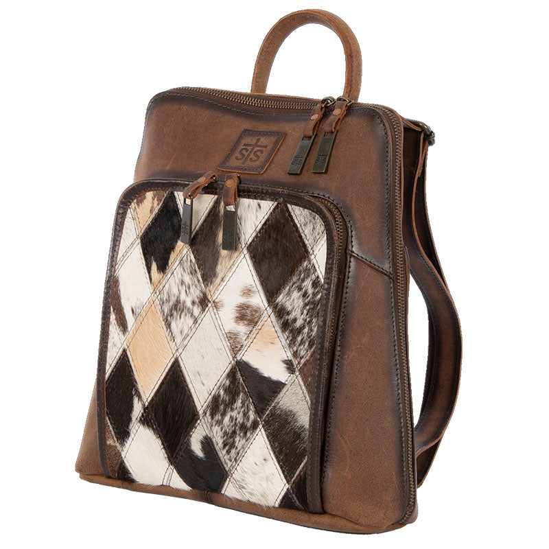 Diamond Cowhide Backpack