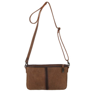 Diamond Cowhide Simple Crossbody