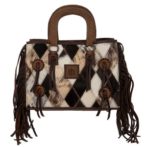 Diamond Cowhide Satchel