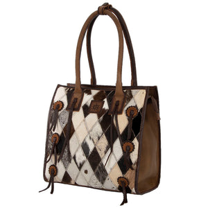 Diamond Cowhide Tote