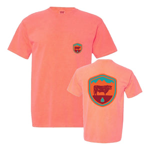 STS Men's Arizona Crest Tee (Red Orange)