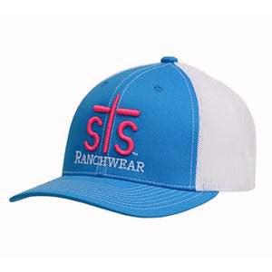 STS Puff Cap - Teal & White