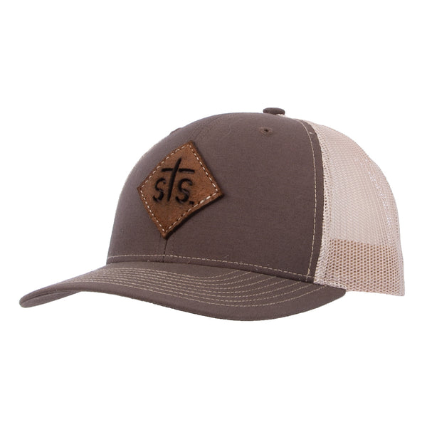 STS Cut Out Patch Cap - Brown & Khaki
