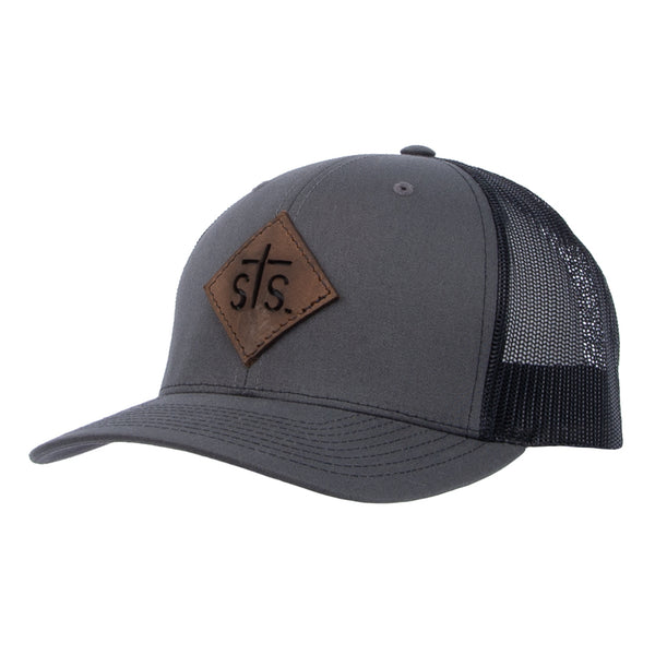 STS Cut Out Patch Cap - Charcoal & Black