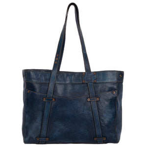Denim Leather Large Tote