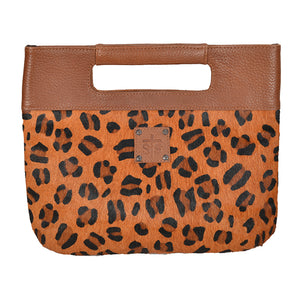 Leopard Flat Rock Clutch
