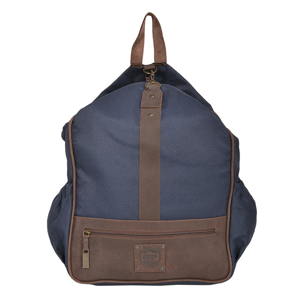 Blue Nylon Canvas Backpack