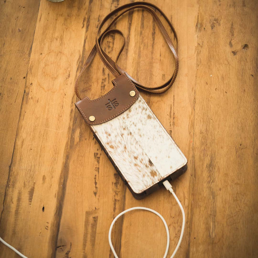 Cowhide Cell Phone Crossbody