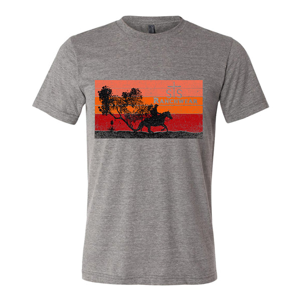 STS Men's Cowboy Sunset Tee (Gray)