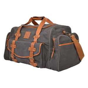Gray Canvas Duffle Bag