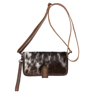 Cowhide Crossbody Wallet