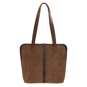 Cowhide Laptop Shopper