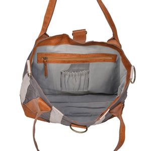 Gray Canvas Weekend Tote