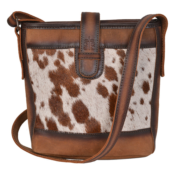 Cowhide Derby Bucket Bag