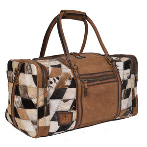Diamond Cowhide Duffle