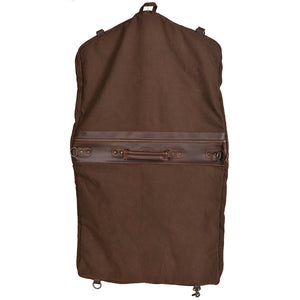 Chocolate Canvas Garment Bag