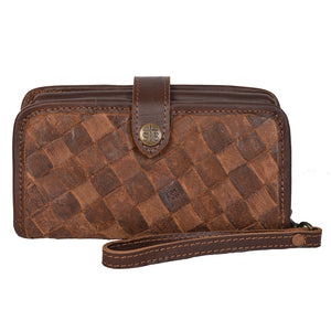 Basket Weave Crossbody Wallet