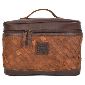 Basket Weave Train Case