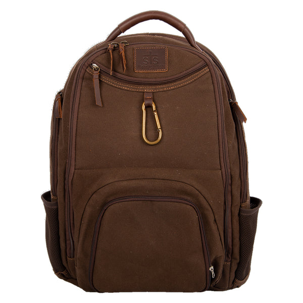 Foreman Chocolate Canvas Utility Backpack
