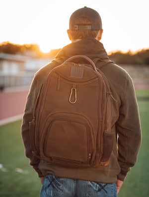 Chocolate Canvas Utility Backpack