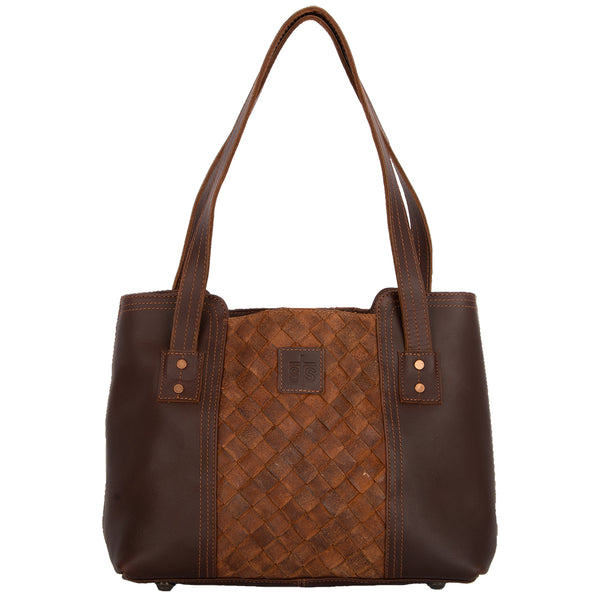 Basket Weave Small Tote