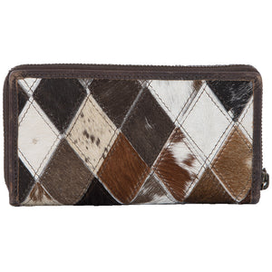 Diamond Cowhide Bi-fold Wallet