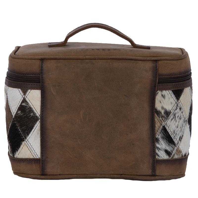 Diamond Cowhide Train Case