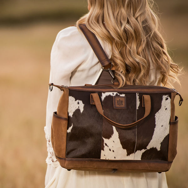 Cowhide Diaper Bag
