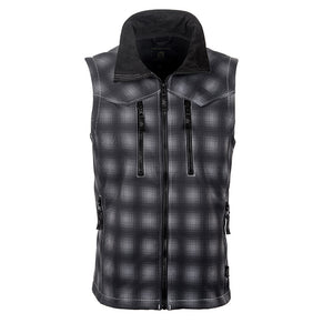 Youth Perf Vest - Black Plaid
