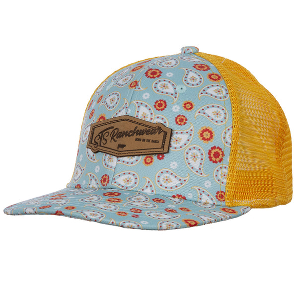 STS Turquoise Paisley Cap