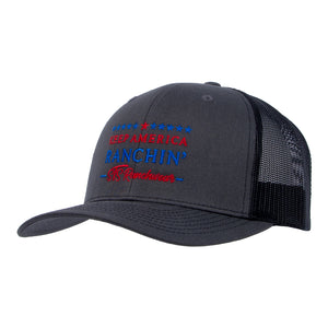 STS Keep America Ranchin Hat - Charcoal & Black