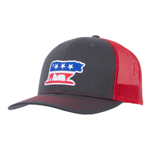 STS Bull Cap - Charcoal & Red