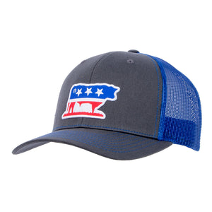 STS Bull Cap - Charcoal & Royal