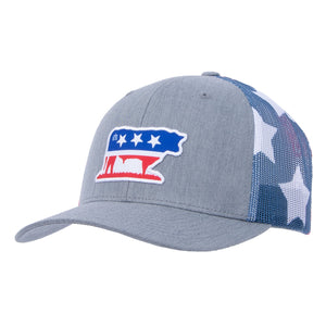 STS Bull Cap - Gray & Flag