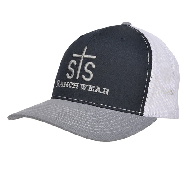 STS Puff Cap - Navy & White