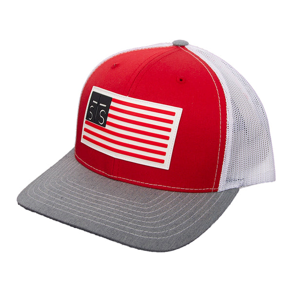 STS Patch Cap - Red & White