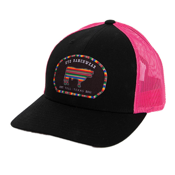 STS Patch Cap - Black & Pink