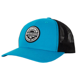 STS Patch Cap - Cyan & Black