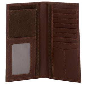 Chocolate Canvas Long Bifold Wallet