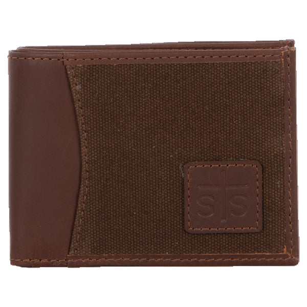 Chocolate Canvas Bifold 2 Wallet