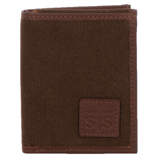 Chocolate Canvas Hidden Cash Wallet