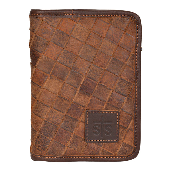 Basket Weave Magnetic Wallet
