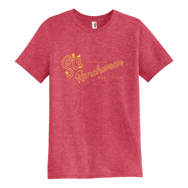 STS Men's Rope Logo Tee (Heather Red)