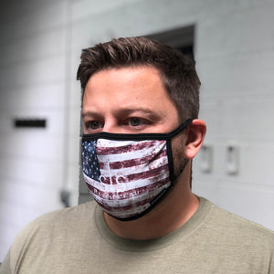 STS Face Mask - Rustic Flag