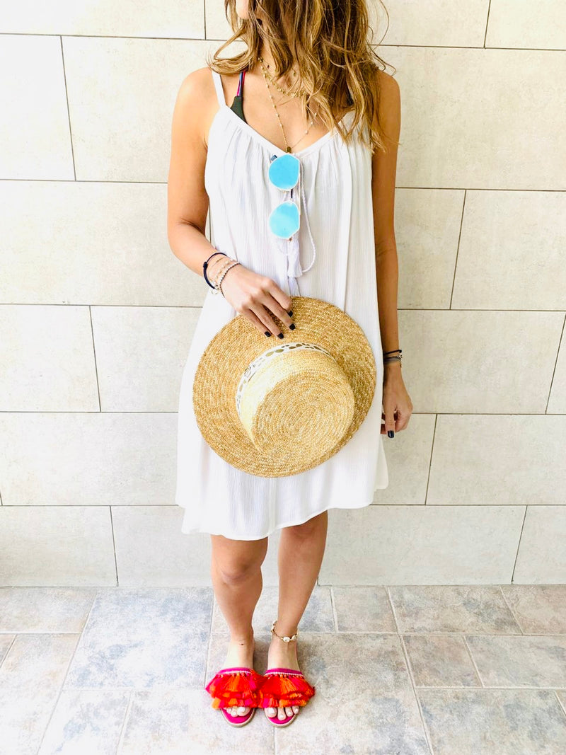 White Tassel Beach Dress