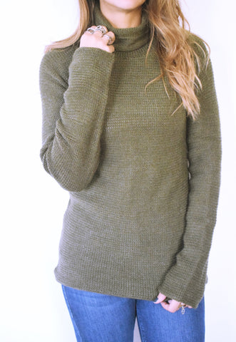 Olive High Neck Pullover