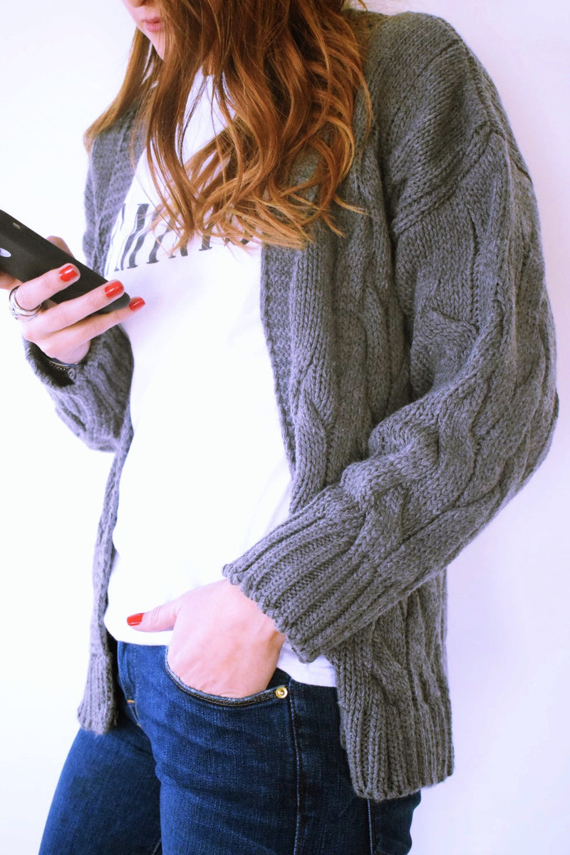 Ultimate Charcoal Chunky Cardi