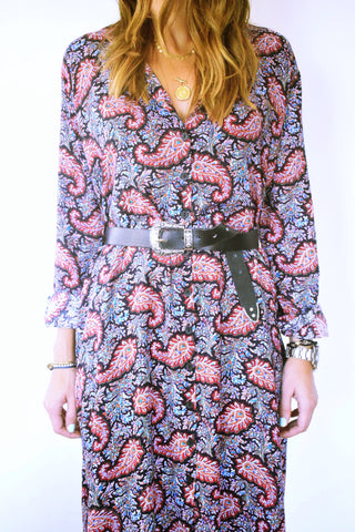 Summer Sunset Paisley Shirt Dress