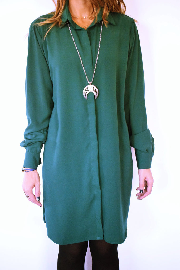 Basic Green Longline Shirt